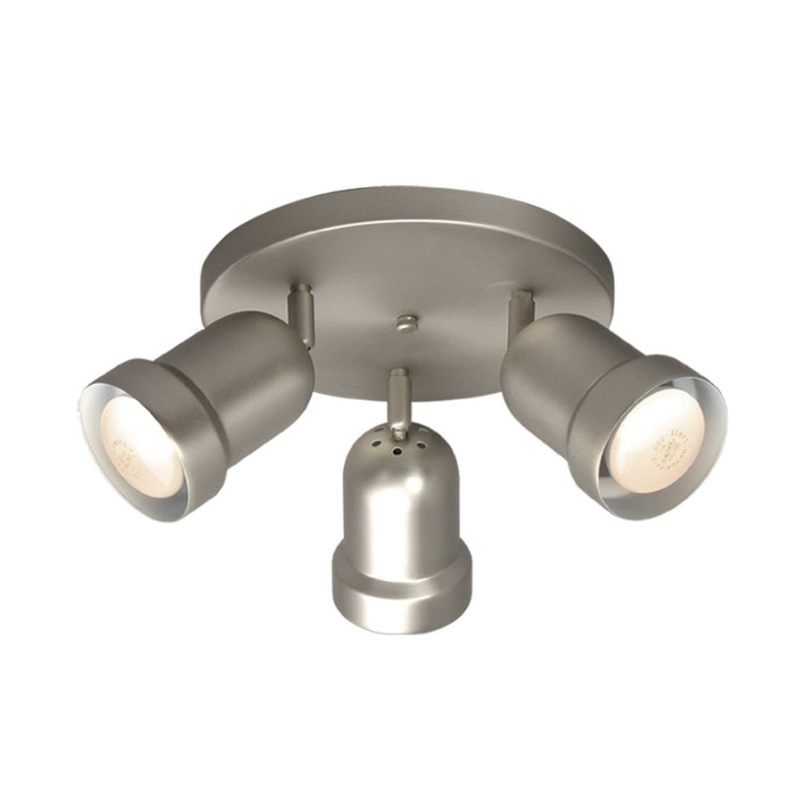Galaxy 3-Light 10.125-in Pewter Flush Mount Fixed Track Light Kit