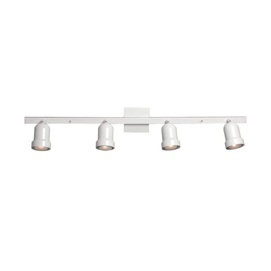 Galaxy 4-Light 40-in White Fixed Track Light Kit