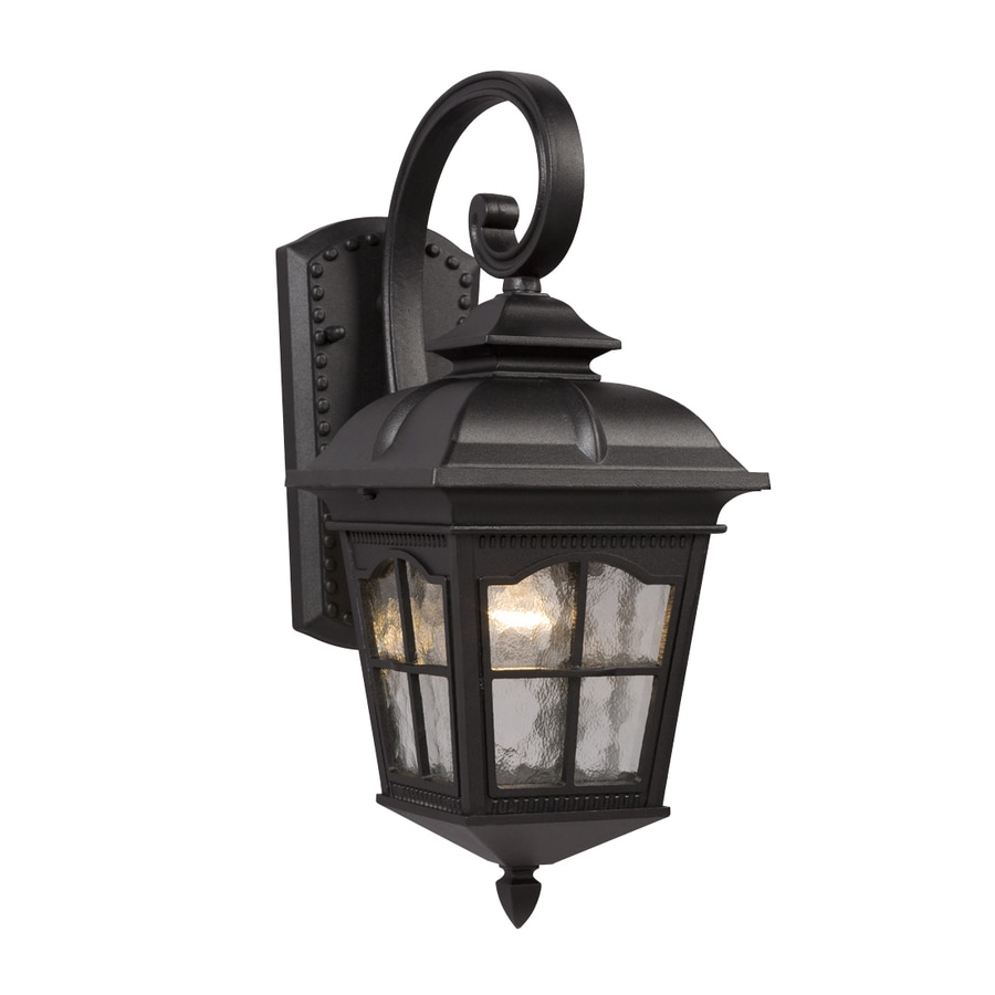 Galaxy 16.75-in H Black Outdoor Wall Light