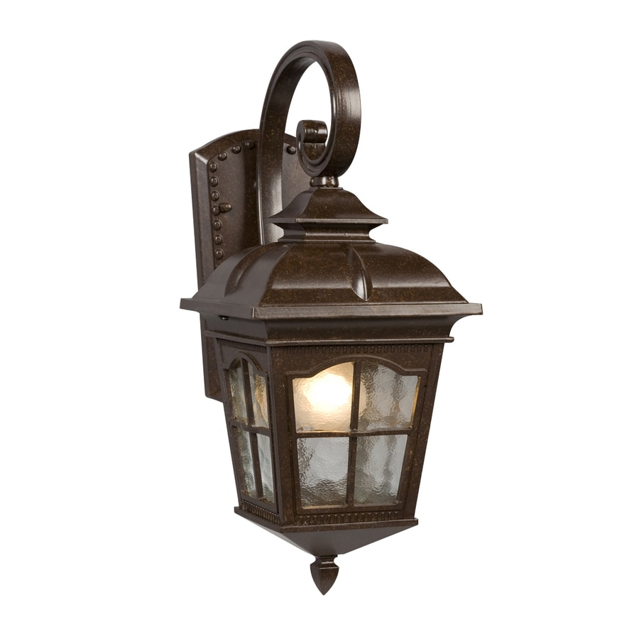 Shop Galaxy 16.75-in H Bronze Outdoor Wall Light at Lowes.com