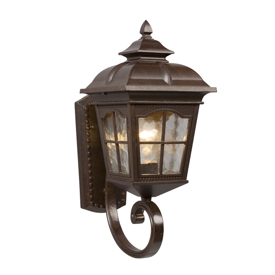 Galaxy 16.75-in H Bronze Outdoor Wall Light