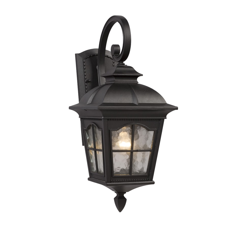 Galaxy 21.37-in H Black Outdoor Wall Light