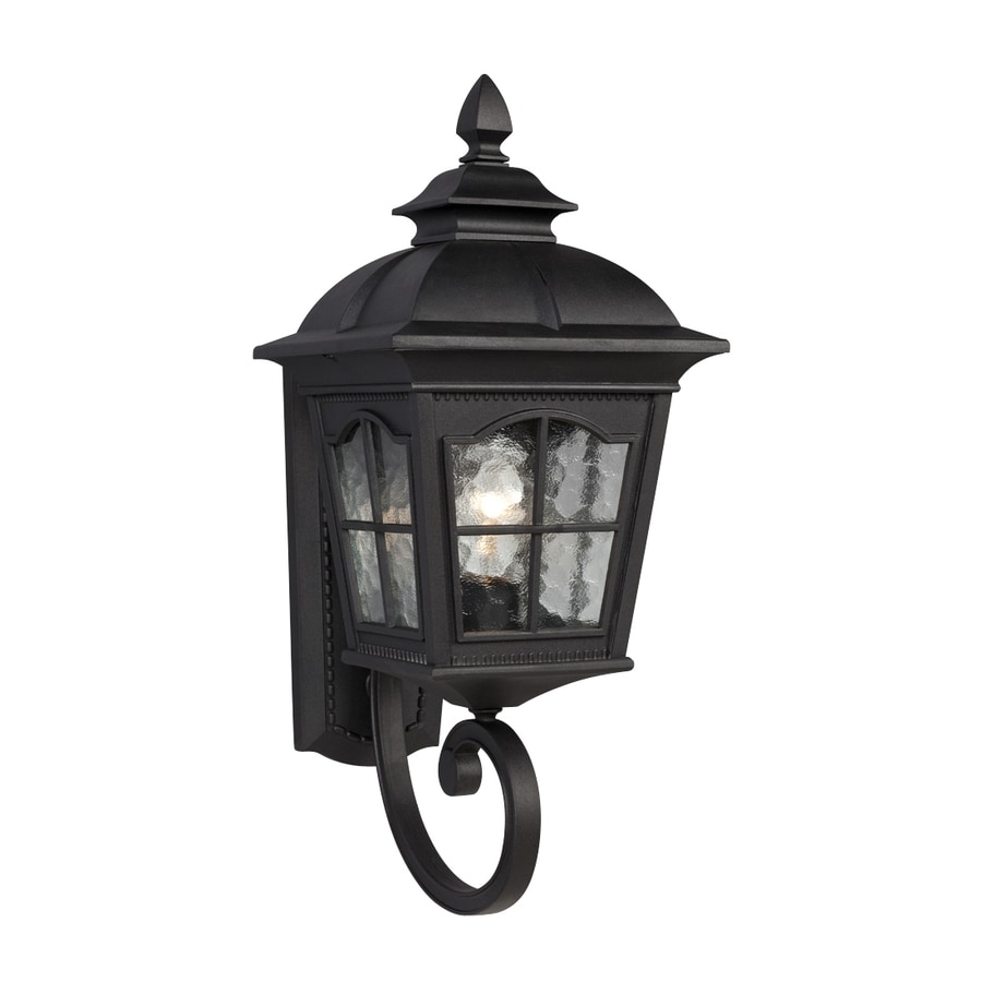 Galaxy 21.25-in H Black Outdoor Wall Light