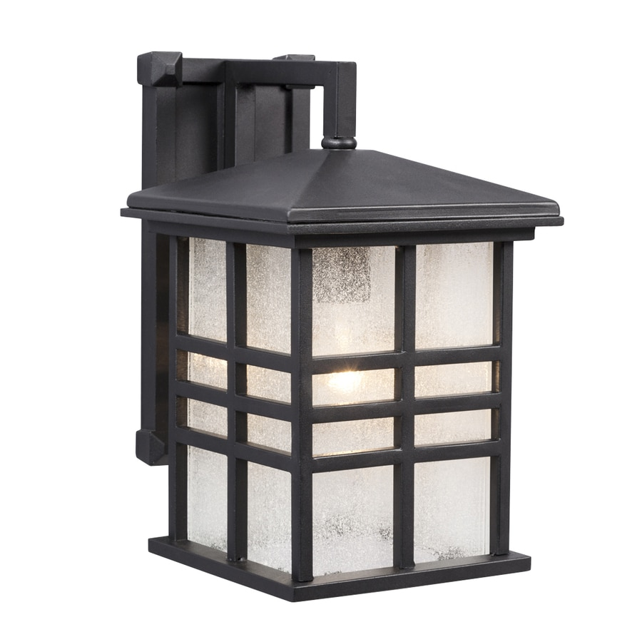 Galaxy 13-in H Black Outdoor Wall Light