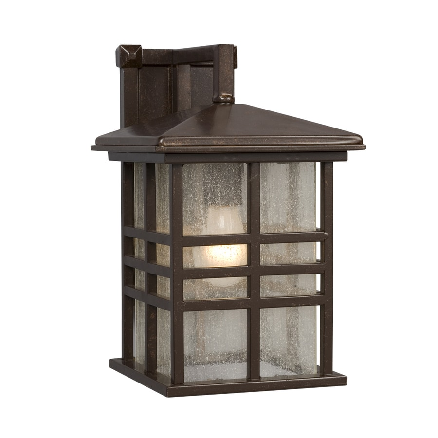 Galaxy 13-in H Bronze Outdoor Wall Light