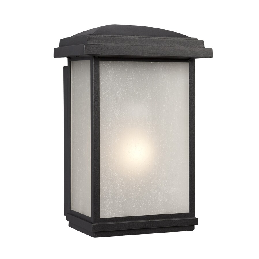 Galaxy 12.75-in H Black Outdoor Wall Light