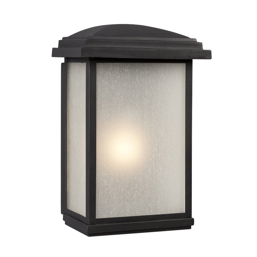 Galaxy 16-in H Black Outdoor Wall Light