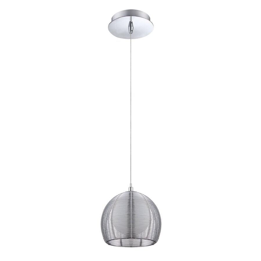 Kendal Lighting 6.25-in Chrome Industrial Mini Bell Pendant