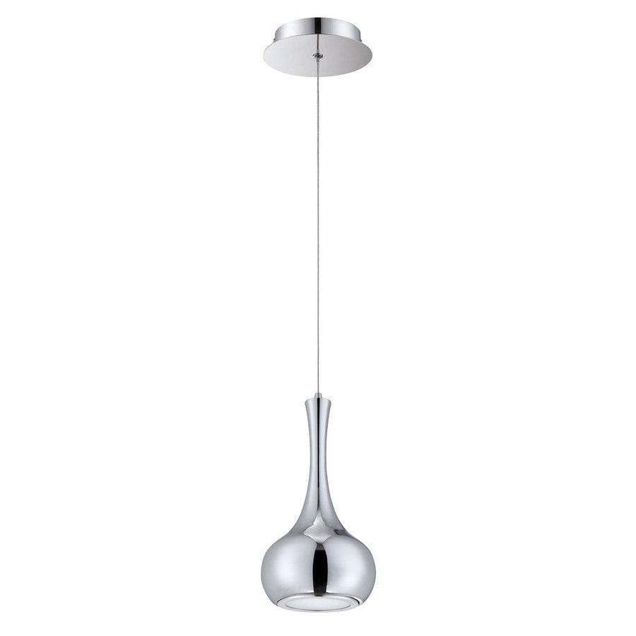 Kendal Lighting 5.25-in Chrome Wrought Iron Mini Teardrop LED Pendant