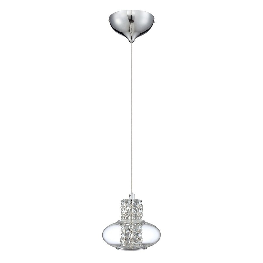 Kendal Lighting 5.75-in Chrome Crystal Mini Clear Glass Pendant