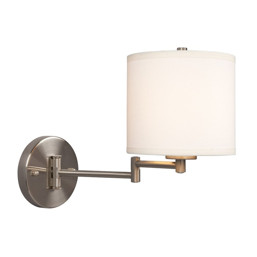 Galaxy Ansley 6.7-in W 1-Light Brushed Nickel Swing Arm Wall Sconce