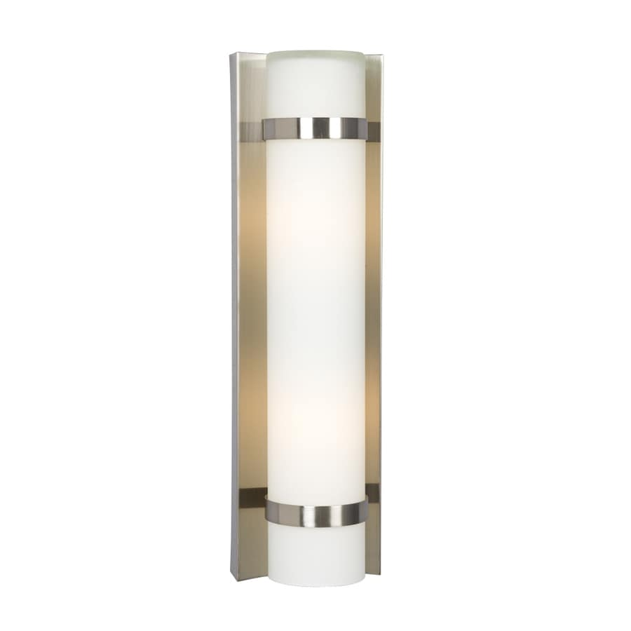 Shop Galaxy 4.25-in W 1-Light Brushed Nickel Pocket Wall Sconce at Lowes.com