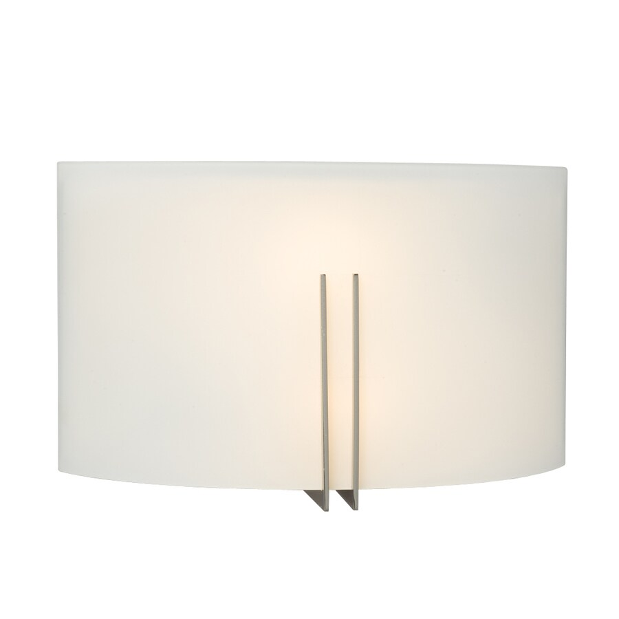Galaxy 12-in W 1-Light Brushed Nickel Pocket Wall Sconce