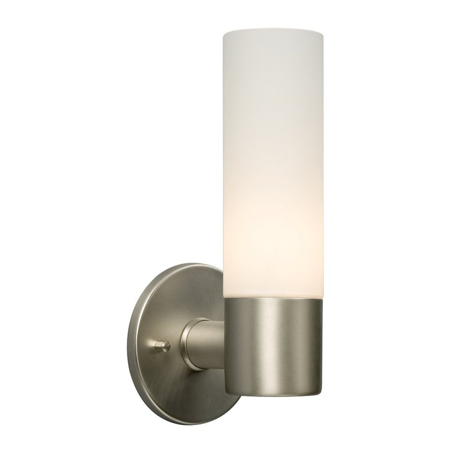 Galaxy Hadley 4.5-in W 1-Light Brushed Nickel Arm Wall Sconce