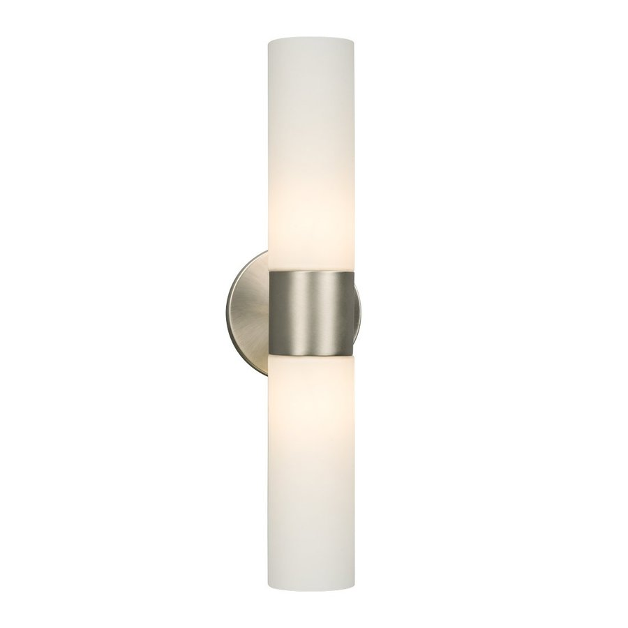 Galaxy Hadley 4.5-in W 2-Light Brushed Nickel Arm Wall Sconce