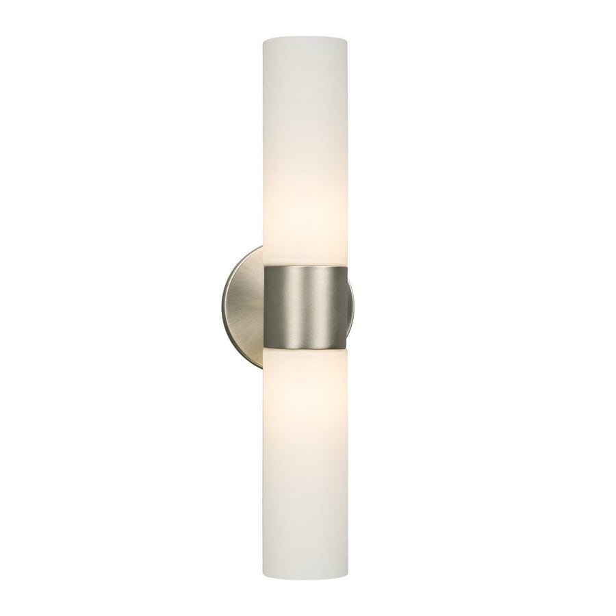 Galaxy Hadley 4 5 In W 2 Light Brushed Nickel Arm Wall Sconce
