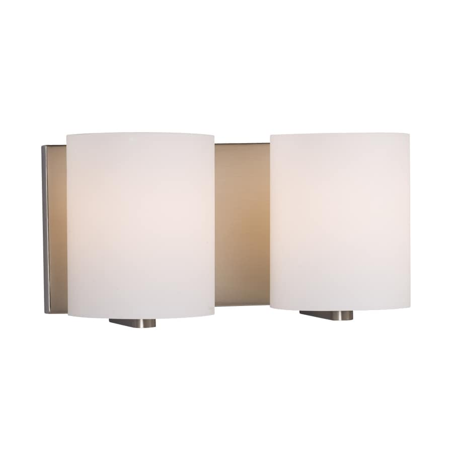 Galaxy Cyl 2-Light 6.25-in Brushed Nickel Cylinder Vanity Light