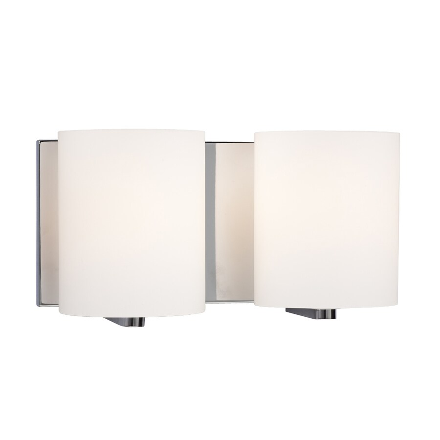 Galaxy Cyl 2-Light 6.25-in Polished Chrome Cylinder Vanity Light