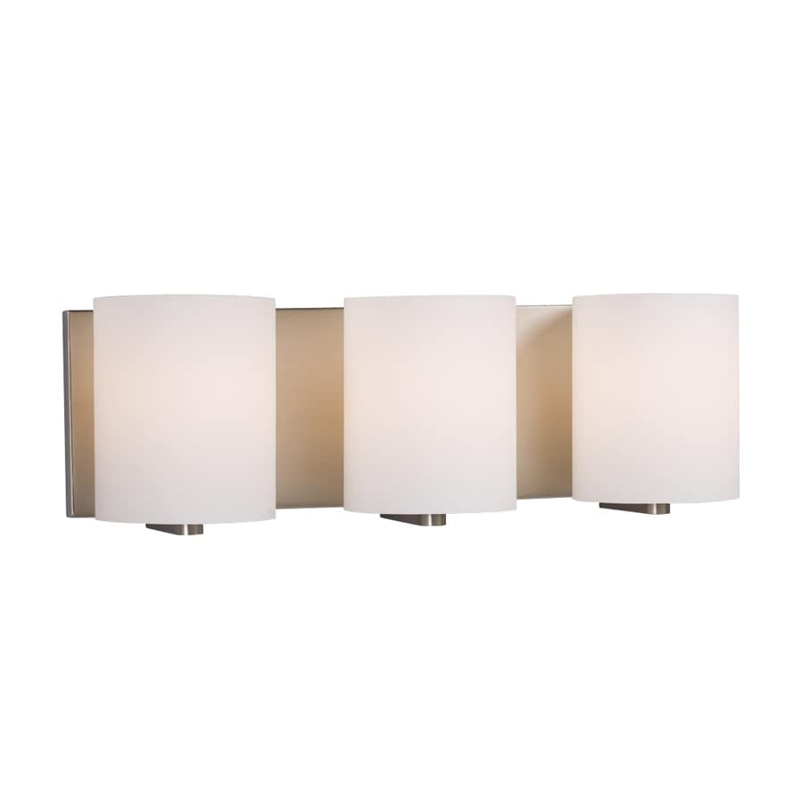 Shop Galaxy Cyl 3-Light 18.75-in Brushed Nickel Cylinder Vanity ...