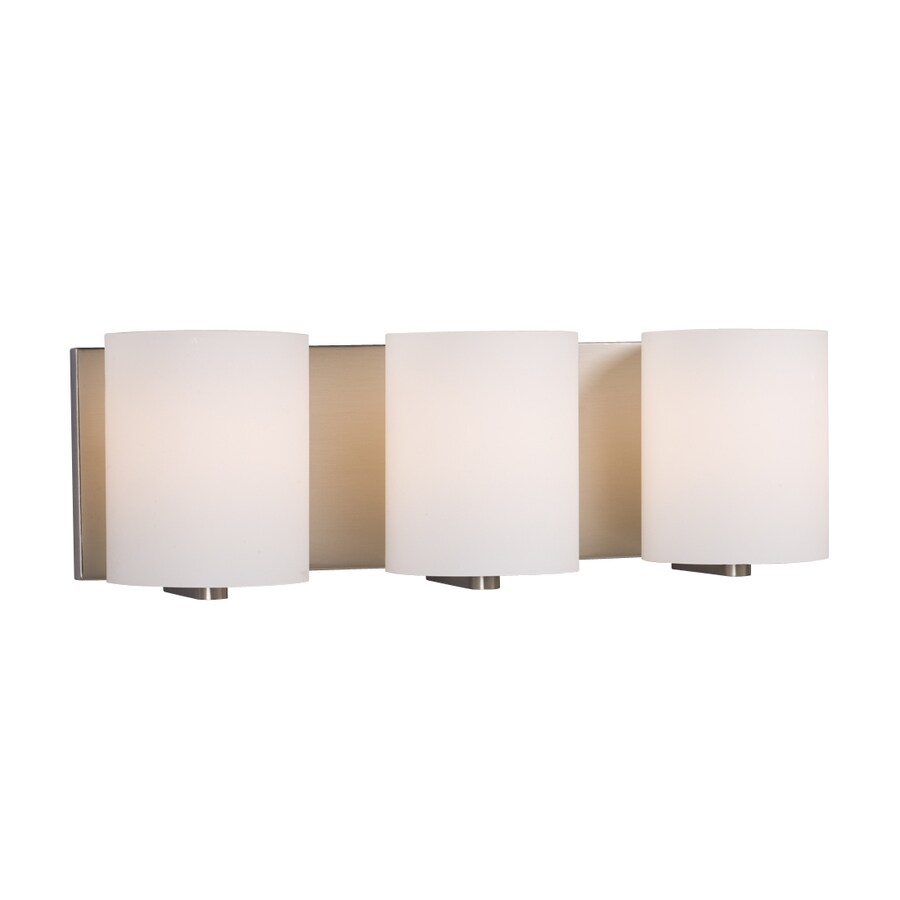 Galaxy Cyl 3-Light 6.25-in Brushed nickel Cylinder Vanity Light