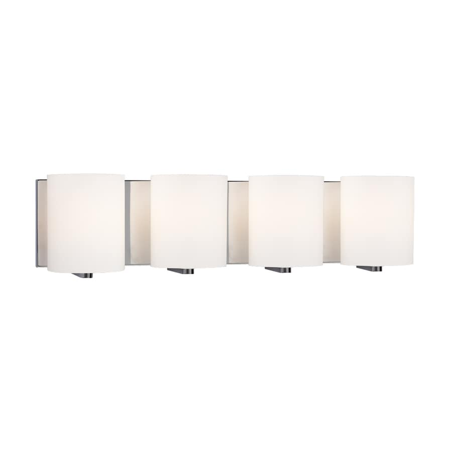 Galaxy Cyl 4-Light 6.25-in Polished Chrome Cylinder Vanity Light