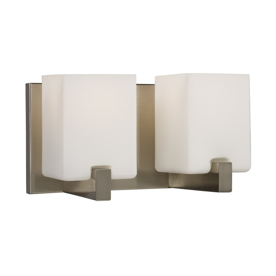 Galaxy Cubic 2-Light 6.25-in Brushed Nickel Rectangle Vanity Light