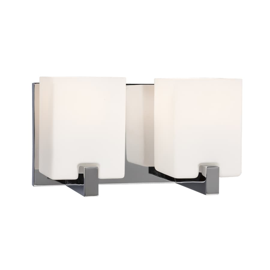 Galaxy Cubic 2-Light 6.25-in Polished chrome Rectangle Vanity Light