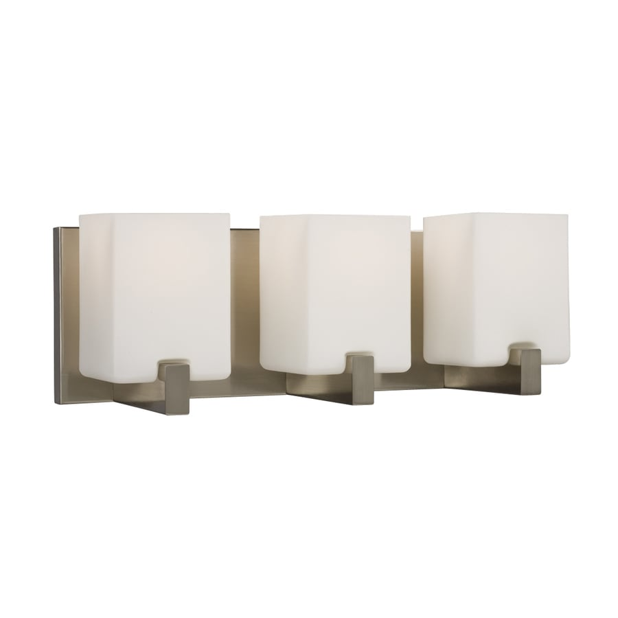 Galaxy Cubic 3-Light 6.25-in Brushed nickel Rectangle Vanity Light