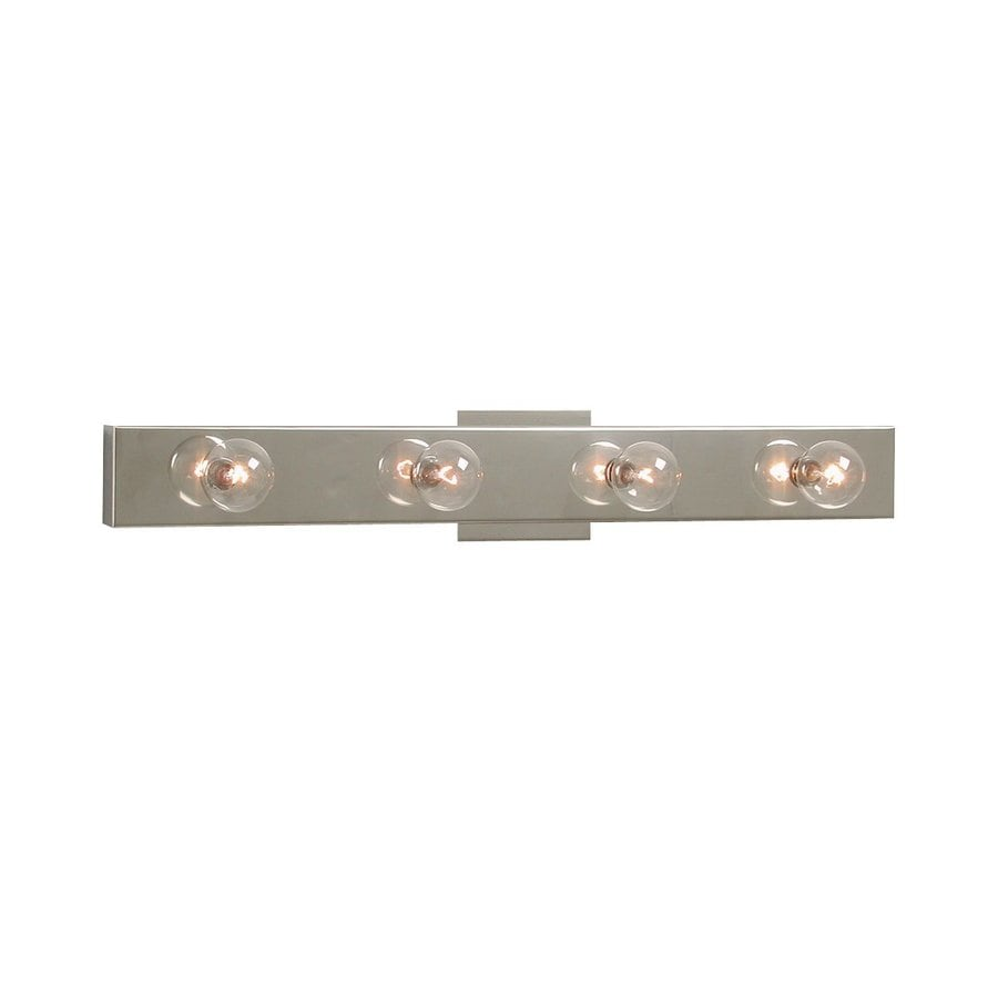 Replace Vanity Light Bar With Two Lights : Shop Galaxy 4-Light 2.875-in Chrome Rectangle Vanity Light Bar at Lowes.com