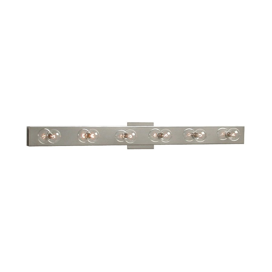 Replace Vanity Light Bar With Two Lights : Shop Galaxy 6-Light 2.875-in Chrome Rectangle Vanity Light Bar at Lowes.com