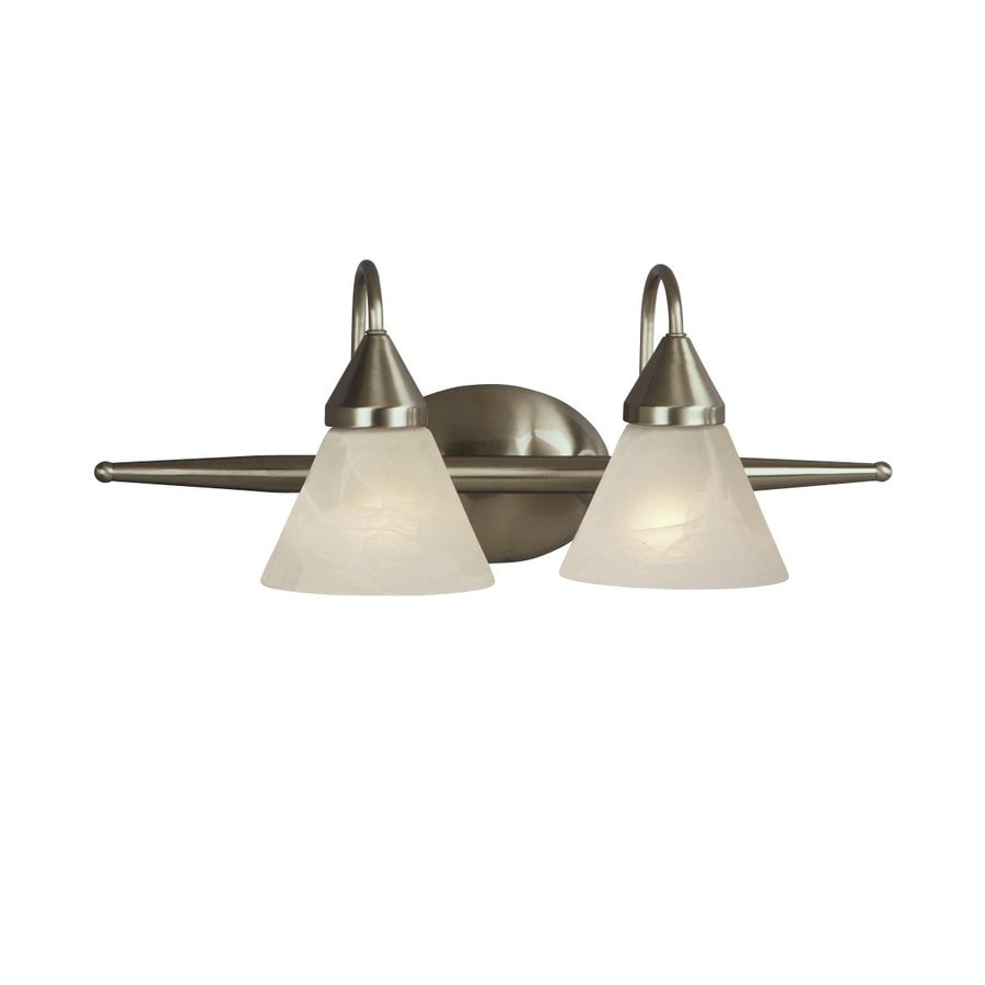 Galaxy Avila 2-Light 9-in Brushed Chrome Cone Vanity Light