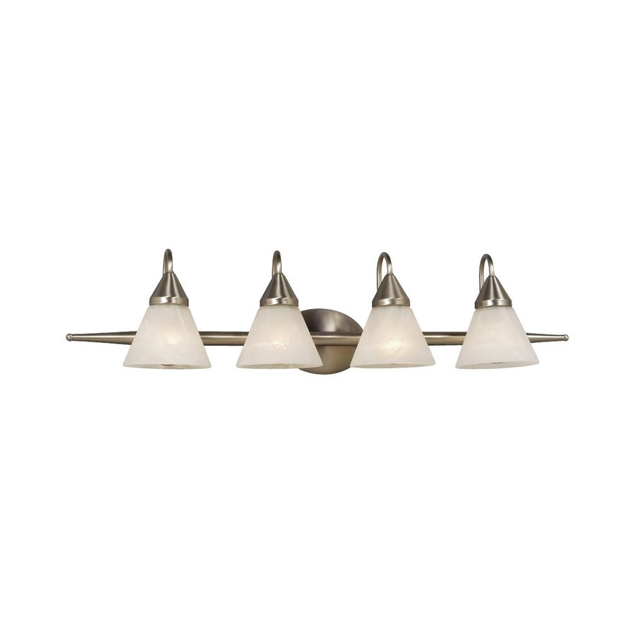 Galaxy Avila 4-Light 9-in Brushed Chrome Cone Vanity Light