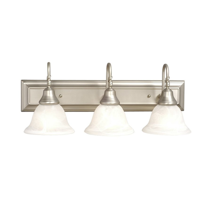Shop Galaxy Adelaide 3-Light 24-in Pewter Bell Vanity