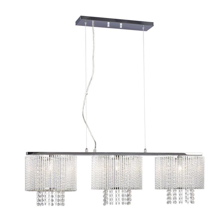 Galaxy Twist 10.25-in W 3-Light Polished Chrome Crystal Accent Kitchen Island Light