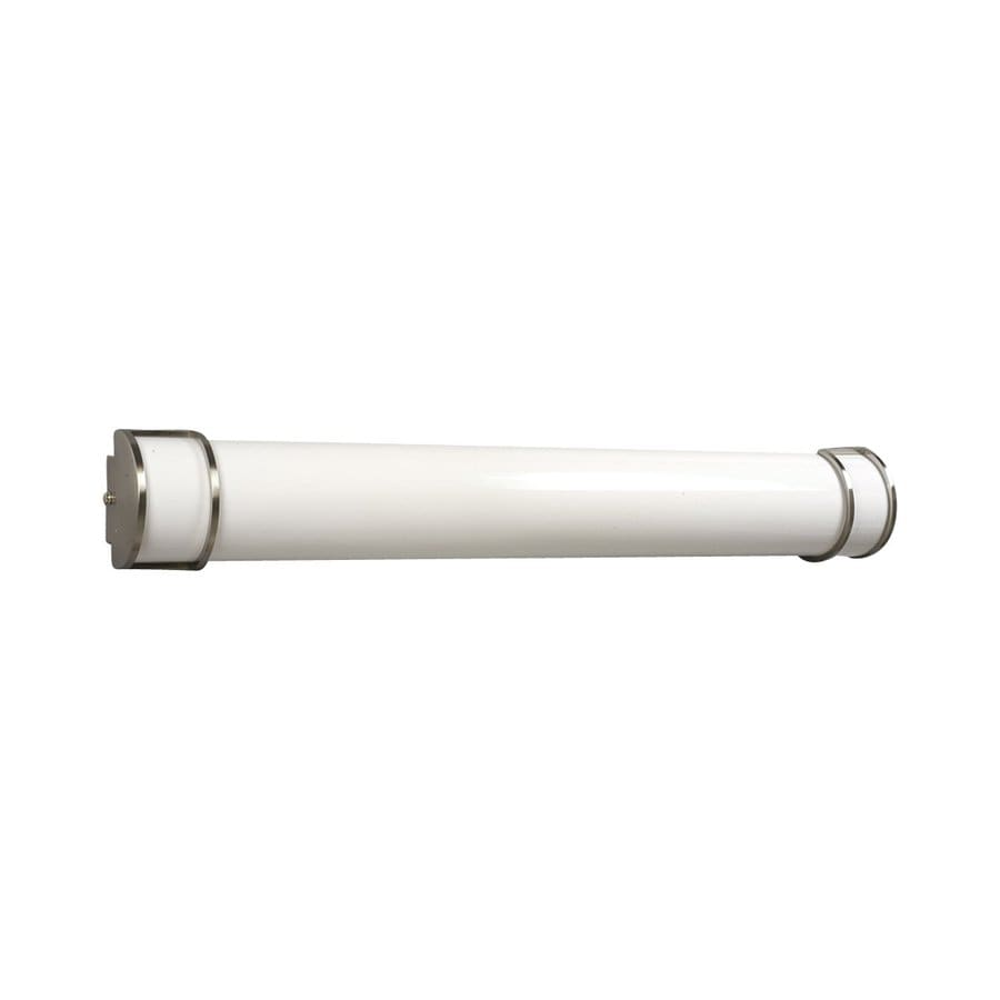 Shop Galaxy 1-Light 6-in Brushed Nickel Cylinder Vanity Light Bar at Lowes.com