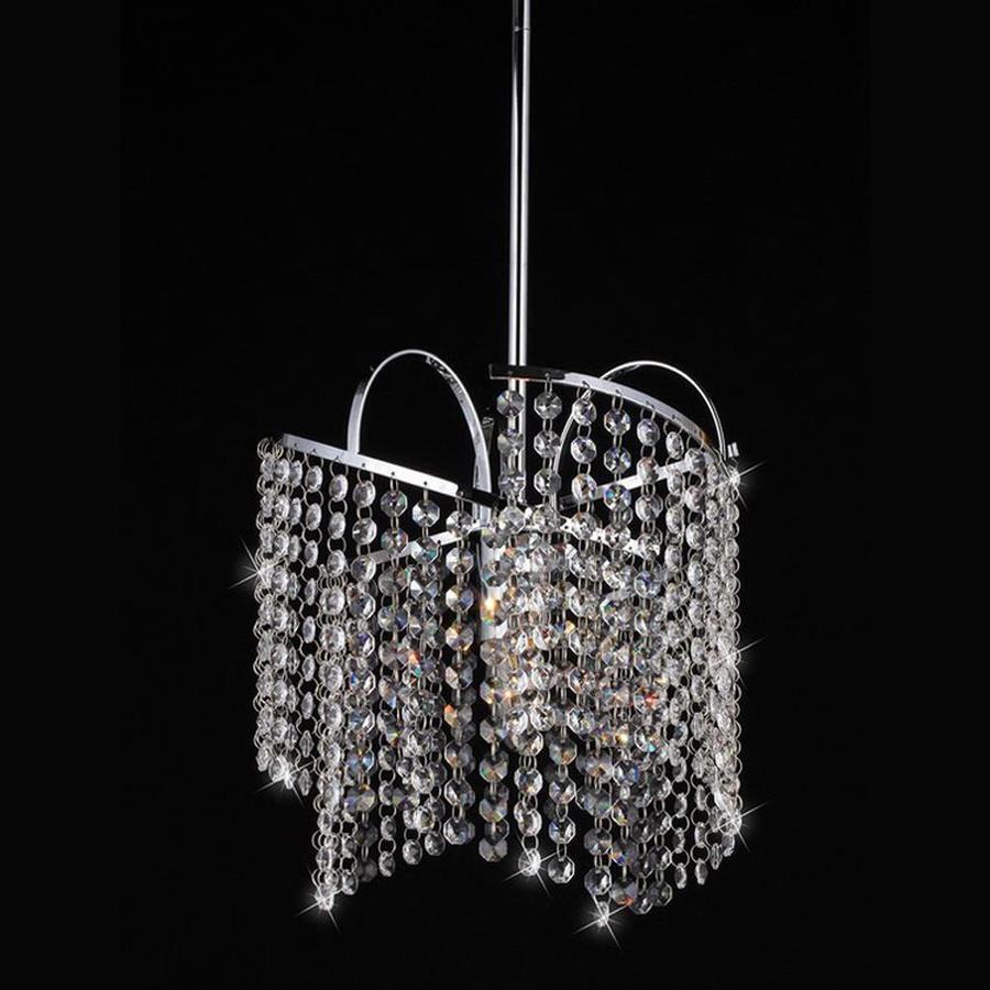 Warehouse of Tiffany Ann 11-in Chrome Single Crystal Pendant
