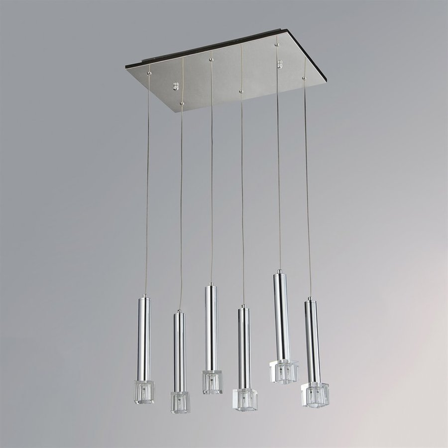 Warehouse of Tiffany 18-in Chrome Multi-Light Crystal Pendant
