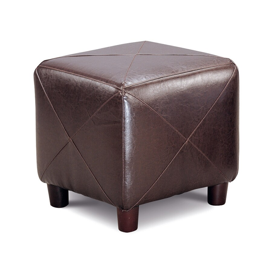 Miraculous Coaster Fine Furniture Dark Brown Faux Leather Ottoman At Dailytribune Chair Design For Home Dailytribuneorg
