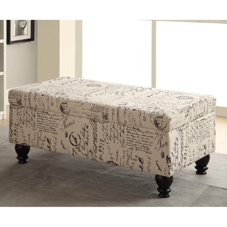 Shop Coaster Fine Furniture Oatmeal Rectangle Storage Ottoman at