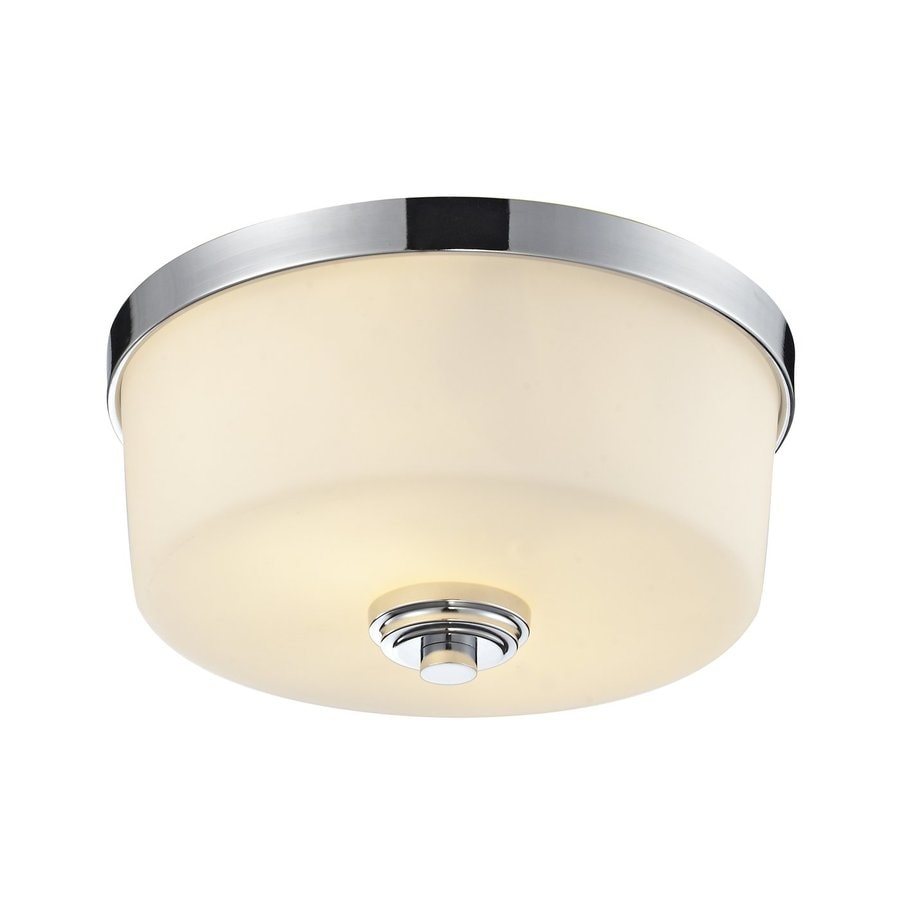 Z-Lite Lamina 12.13-in W Chrome Ceiling Flush Mount Light
