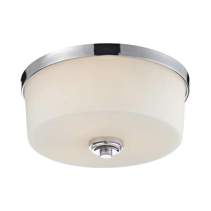 Z-Lite Lamina 13.88-in W Chrome Flush Mount Light