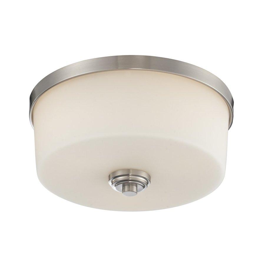 Z-Lite Lamina 13.88-in W Brushed Nickel Flush Mount Light