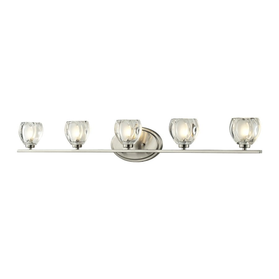 Z-Lite Hale 5-Light 5.75-in Brushed nickel Bowl Vanity Light