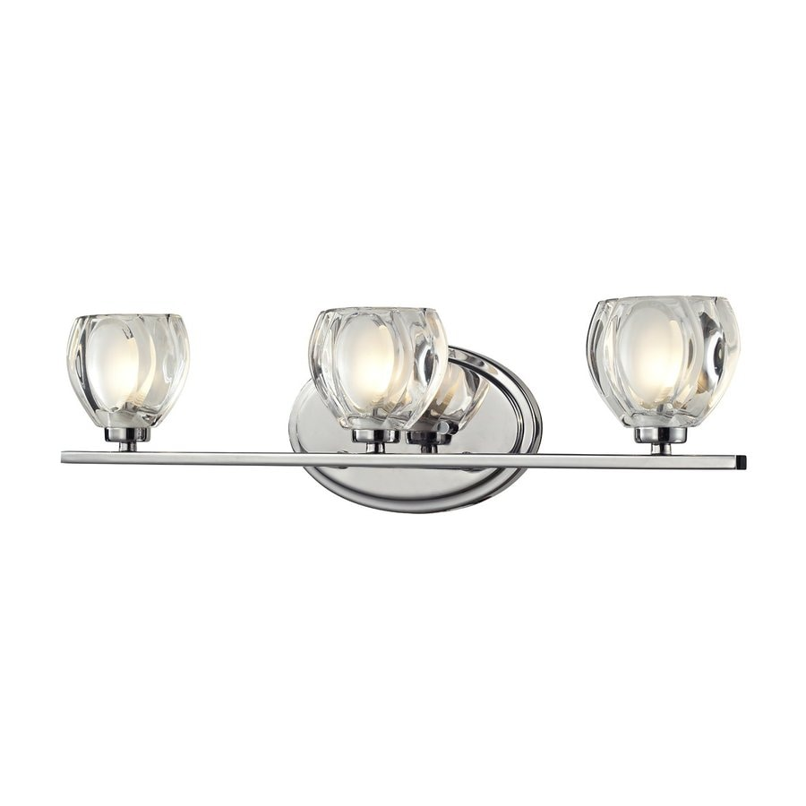 Vanity Lights In Chrome : Shop Z-Lite Hale 3-Light Chrome Bowl Vanity Light at Lowes.com