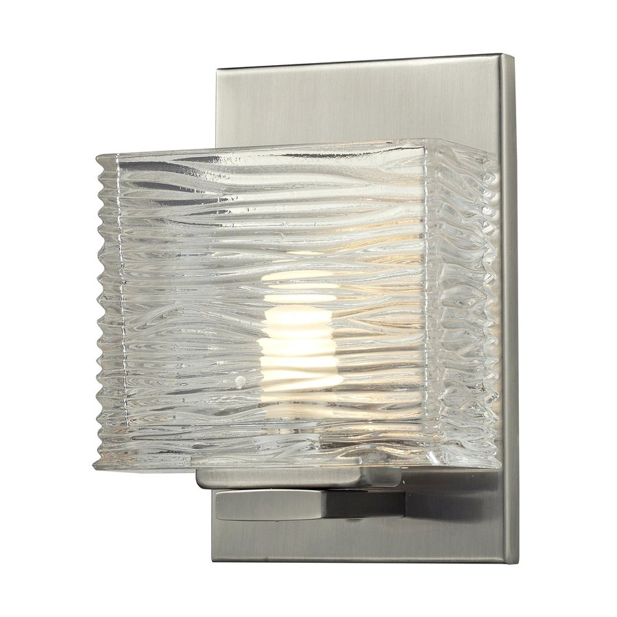 Z-Lite Jaol 5.25-in W 1-Light Brushed Nickel Pocket Wall Sconce