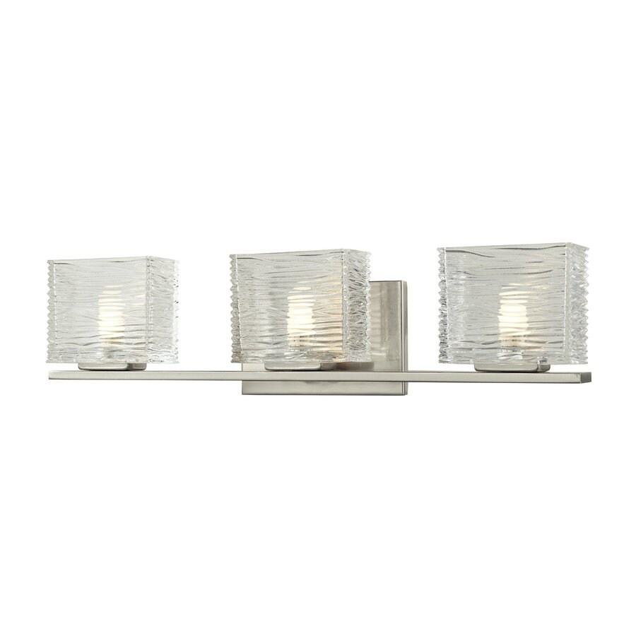 Z-Lite Jaol 3-Light 5.63-in Brushed nickel Rectangle Vanity Light