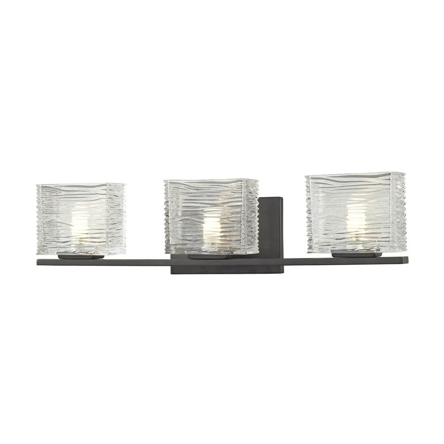 Z-Lite Jaol 3-Light Bronze Rectangle Vanity Light