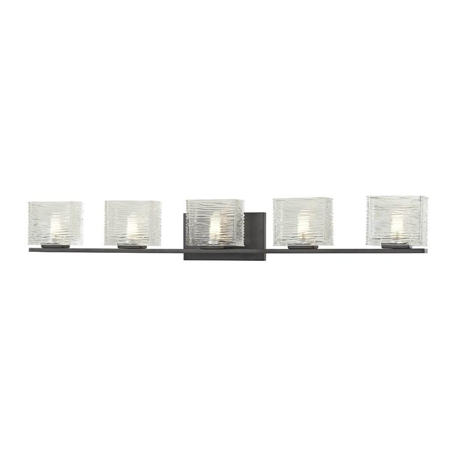 Z-Lite Jaol 5-Light Bronze Rectangle Vanity Light