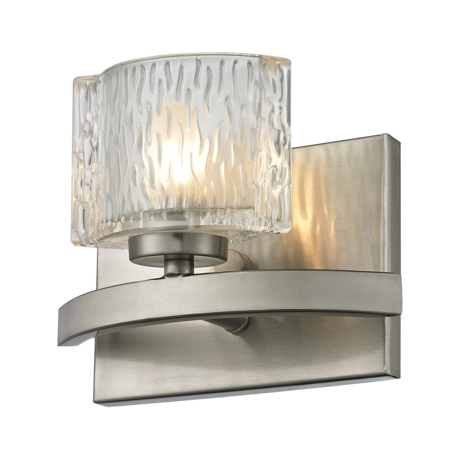 Z-Lite Rai 1-Light 5.5-in Brushed nickel Oval Vanity Light