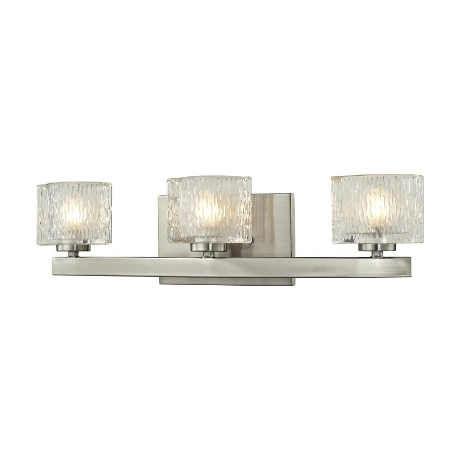 Z-Lite Rai 3-Light 5.38-in Brushed nickel Oval Vanity Light